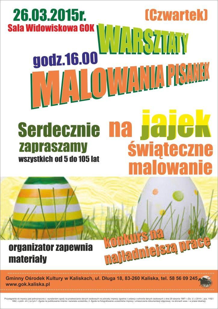 plakat  warsztaty malowania pisankek