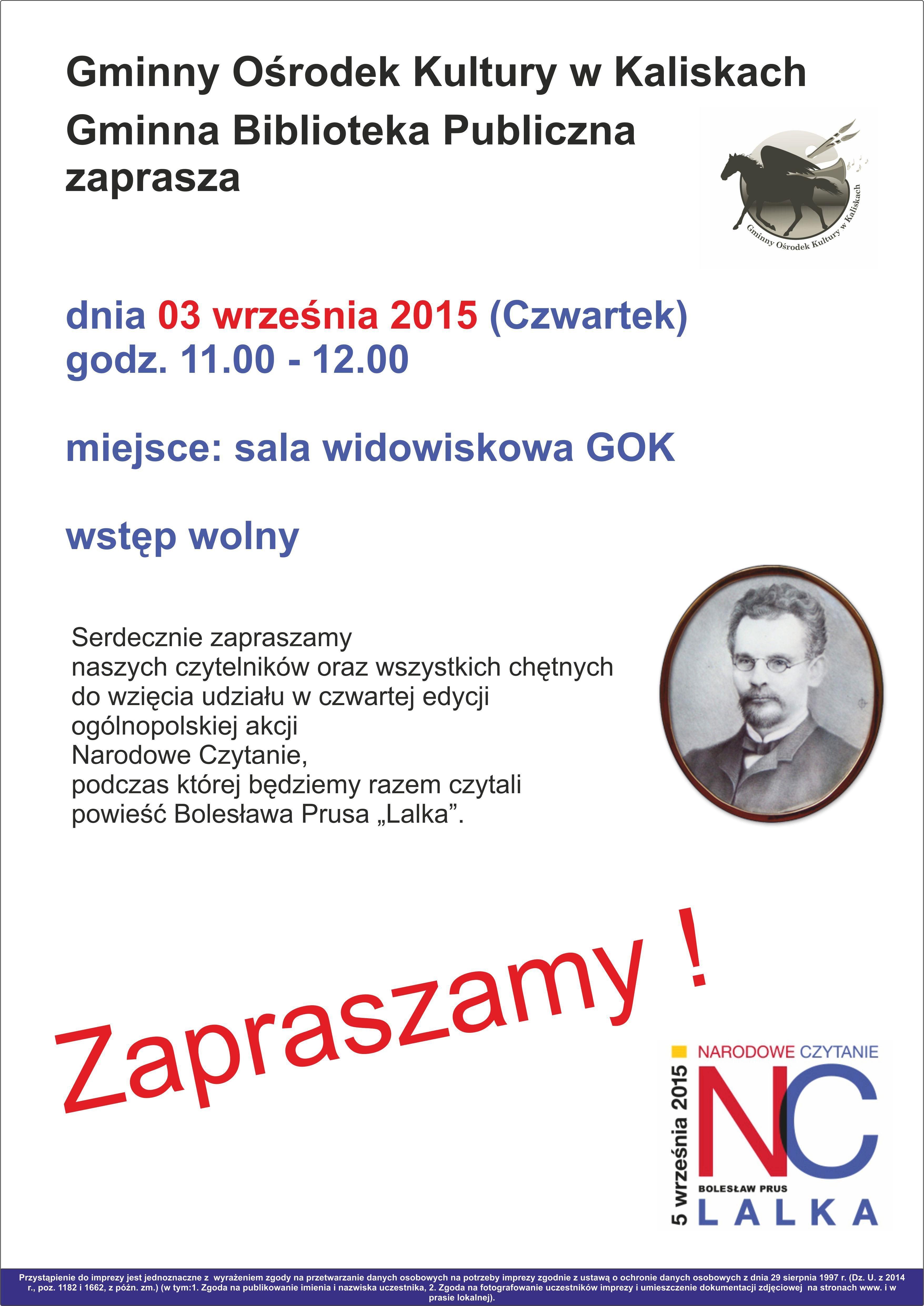 plakat narodowe czytanie